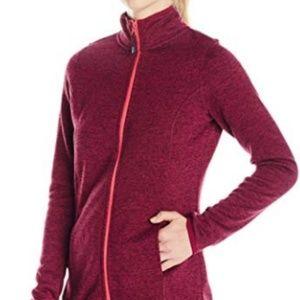 NWT HEAD Full Neon Pink Zip Purple Knit Sweater